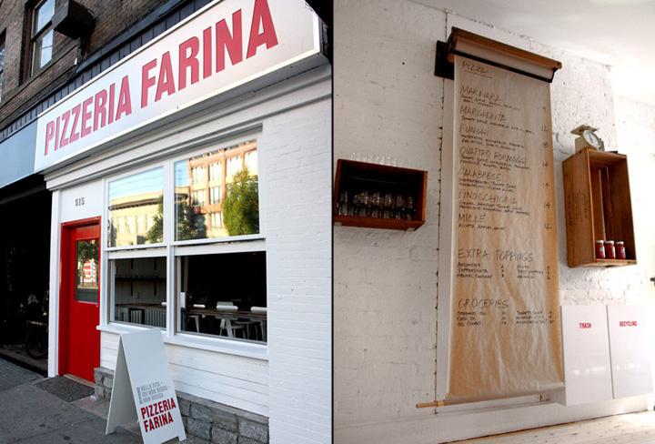 Pizzeria Farina identity design Glasfurd Walker 06 Pizzeria Farina identity & design by Glasfurd & Walker