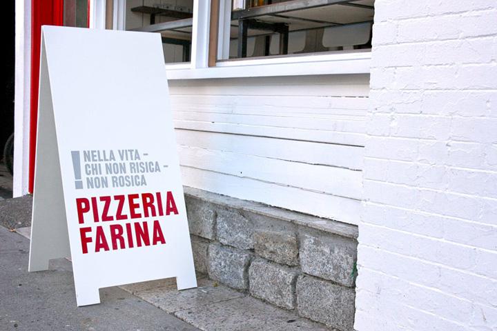 Pizzeria Farina identity design Glasfurd Walker 07 Pizzeria Farina identity & design by Glasfurd & Walker