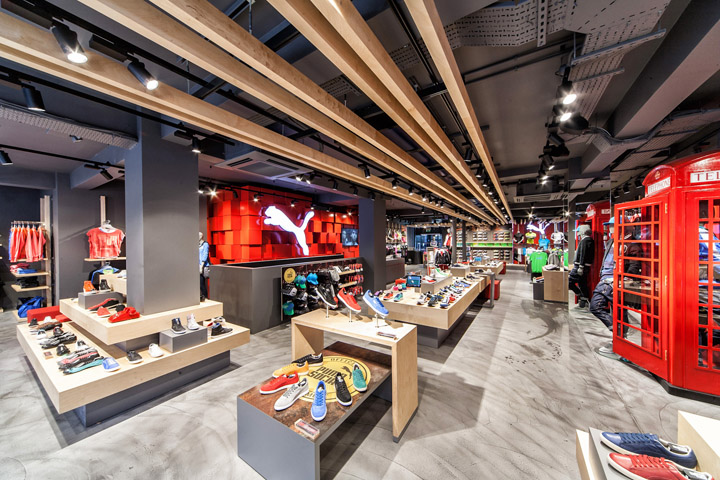 Puma store by plajer franz studio london retail design blog Interior design stores london
