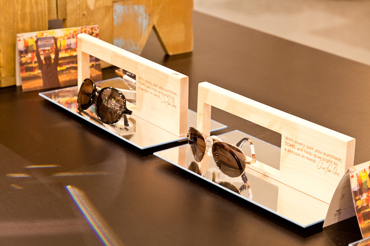4d6fe83570 Tom`s Sunglasses stand in Selfridges by Design4Retail, London