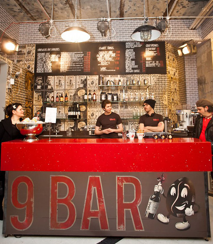 Bar coffee branding by reluctant hero newcastle retail