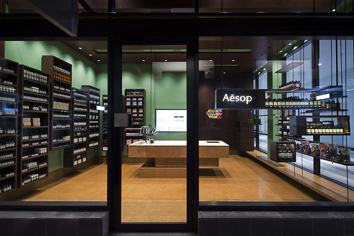 aesop store by russell george claremont retail design. Black Bedroom Furniture Sets. Home Design Ideas