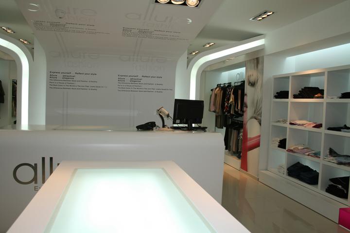 Allure Womens Fashion store by ZainNofal Ramallah Retail Design Blog