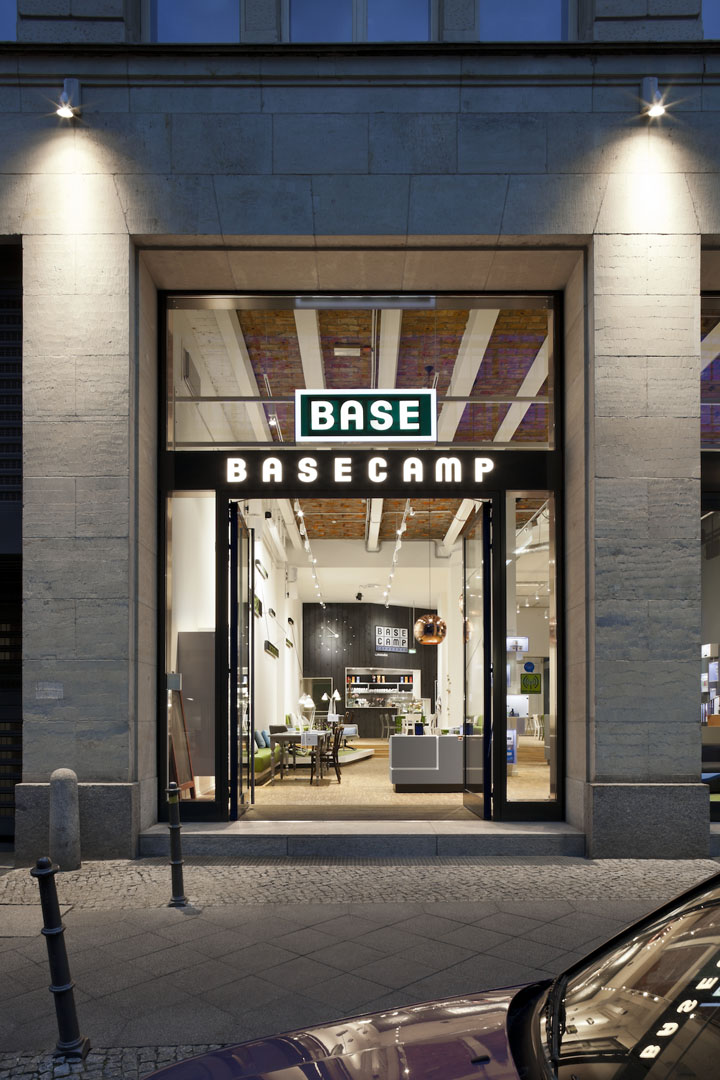 Shop Berlin base c shop café by nest one berlin retail design