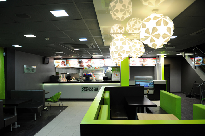 chicken cottage fast food restaurant by retail mark design oldham rh retaildesignblog net interior design ideas for fast food interior design small fast food