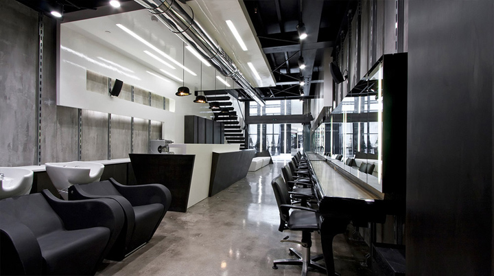 Cuisine Blanche Avec Parquet :  Doudessis Hair Salon by Xylo & Design, Athens » Retail Design Blog