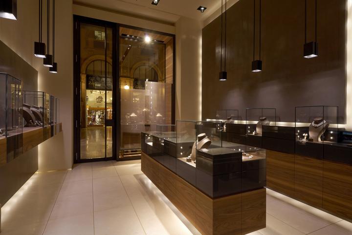 Leo pizzo jewelry boutique by diego bortolato architetto for Store design milano