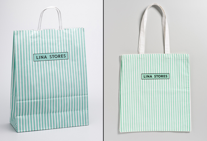 Lina stores branding packaging by Here Design 02 Lina stores branding & packaging by Here Design