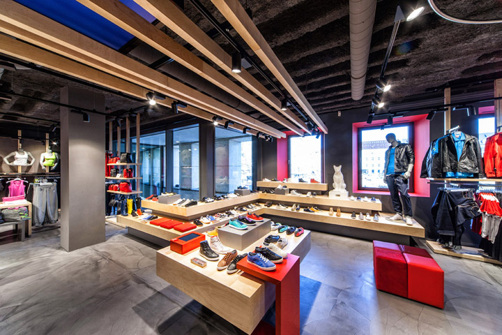puma store by plajer franz studio munich retail. Black Bedroom Furniture Sets. Home Design Ideas