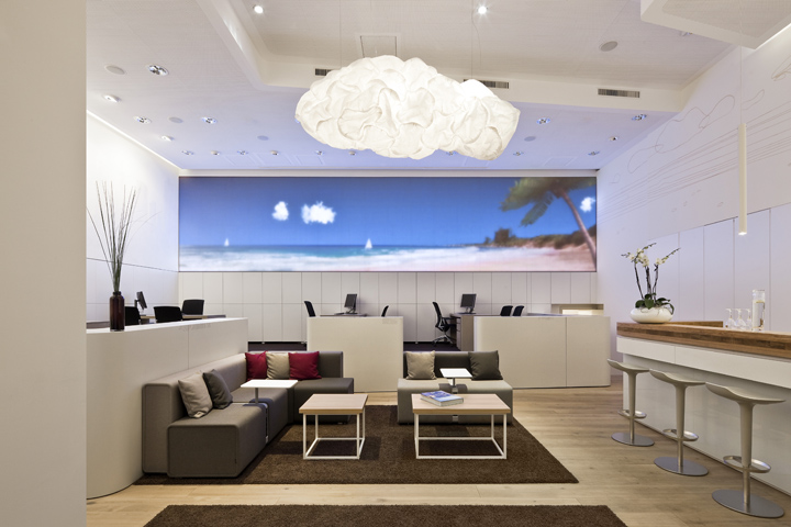 World of tui travel agency by nest one berlin retail for Travel agency office interior design ideas