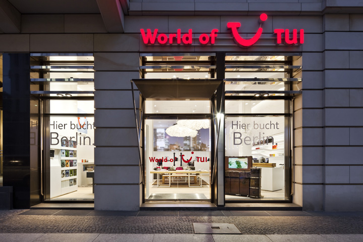 World of tui travel agency by nest one berlin retail for Interior design retail agency