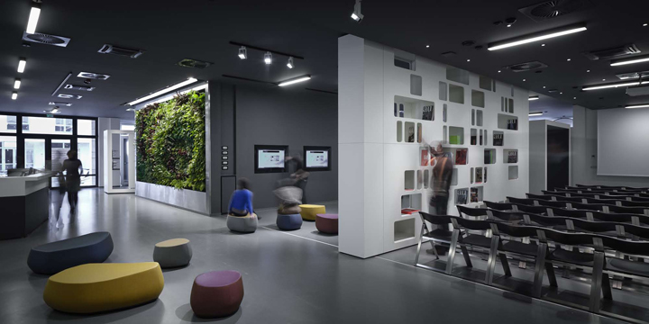 aquamart sanitary showroom by fl architects budapest retail design blog. Black Bedroom Furniture Sets. Home Design Ideas
