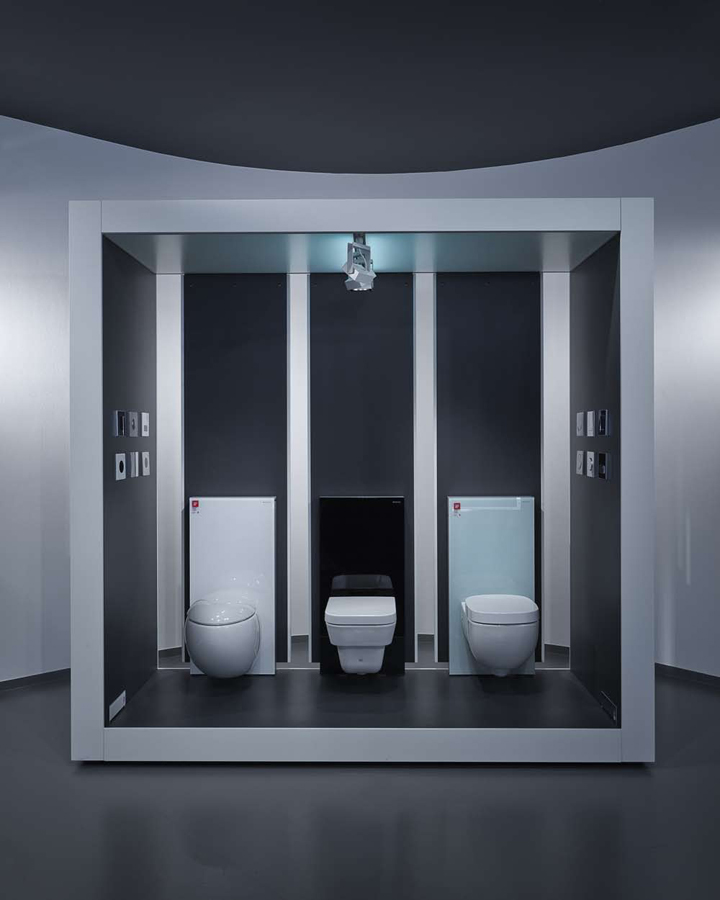 Aquamart sanitary showroom by fl architects budapest for Bathroom accessories showroom