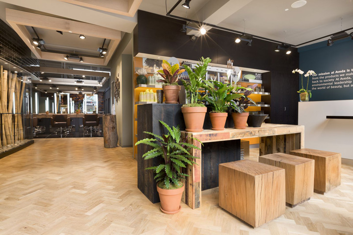 Used Salon Chairs >> » Aveda Lifestyle Salon Spa by Reis Design, London