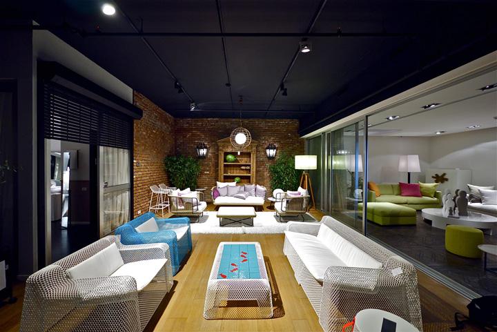 187 Penthouse Furniture Showroom By Studio Yaron Tal Tel Aviv