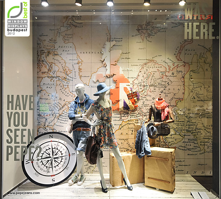 Pepe Jeans London Window Displays Summer 2012 Budapest