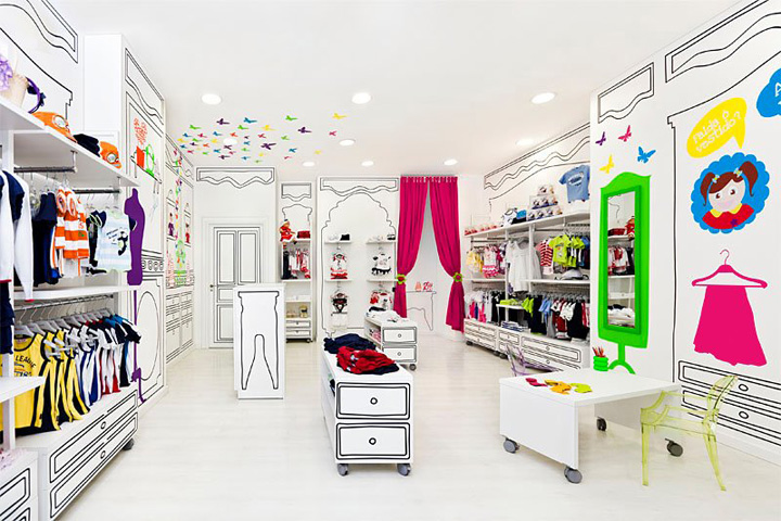 Kids Clothing Store Interior Design