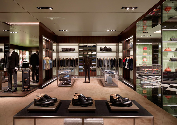 Prada flagship store by roberto baciocchi dubai - Men s clothing store interior design ideas ...