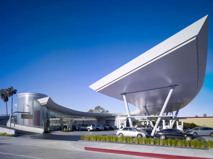 United oil gasoline station by kanner architect los for Los angeles architecture