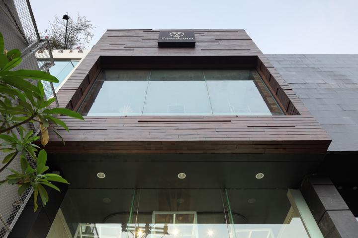 Front Elevation Showroom : Yamakawa rattan showroom by sidharta architect jakarta