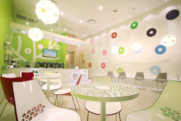 ICE CREAM! Bluberi frozen yogurt shop by Emmanuelle Moureaux ...