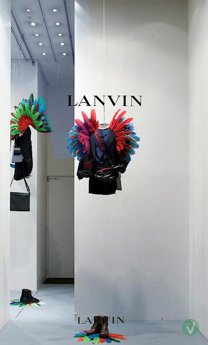 Lanvin windows paris retail design blog for Window design visual merchandising