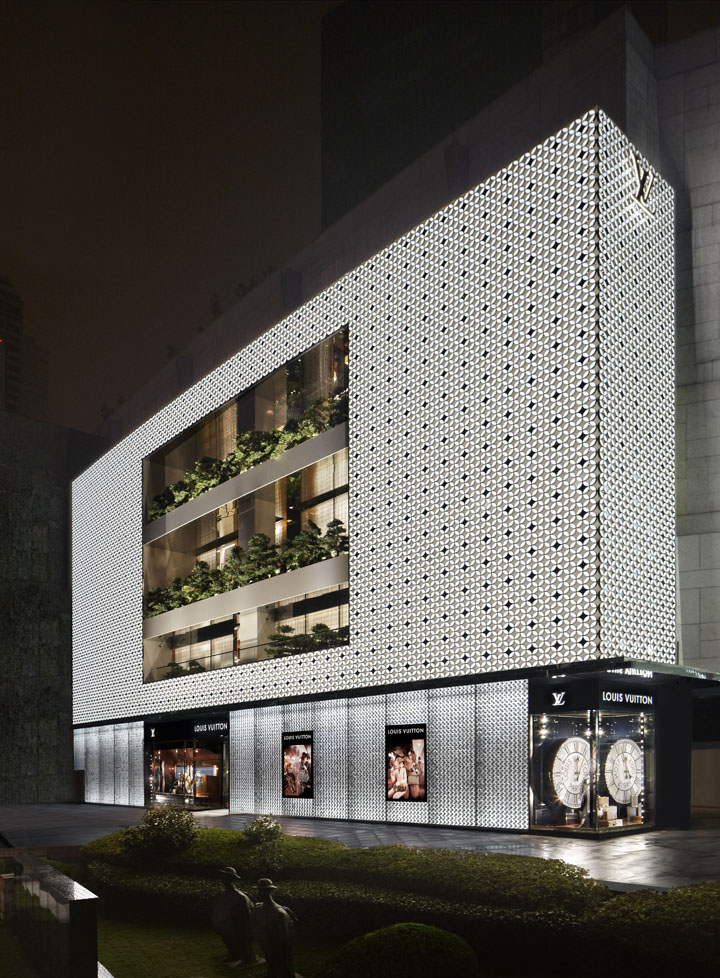 Front Elevation Of Showroom : Louis vuitton maison by peter marino shanghai