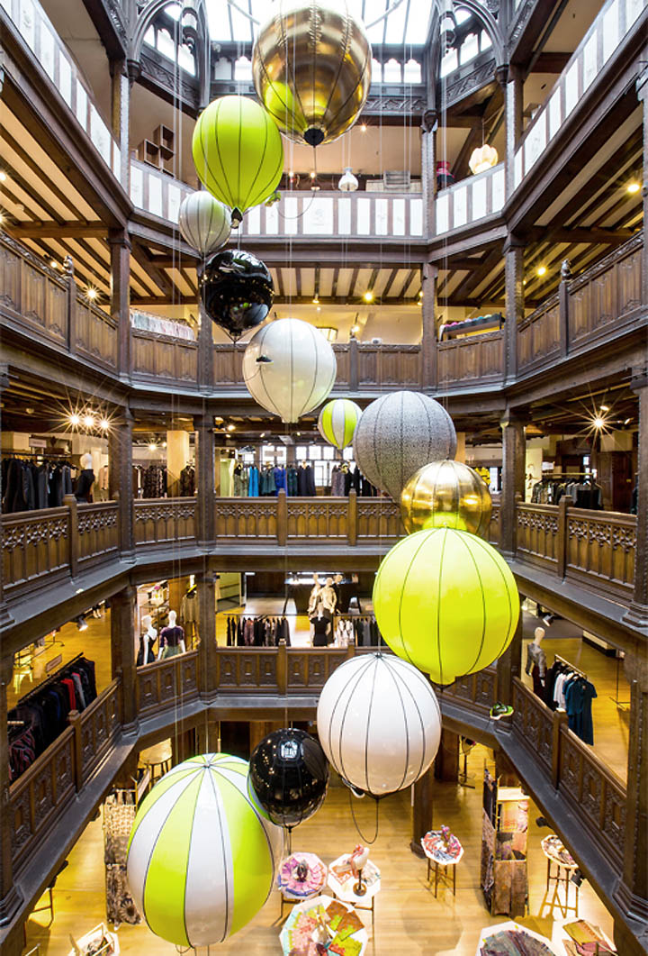 Nike x liberty olympics pop up and atrium by hotel for Atrium design and decoration