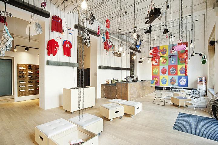 Puma social club by edit prague retail design blog for Retail space design