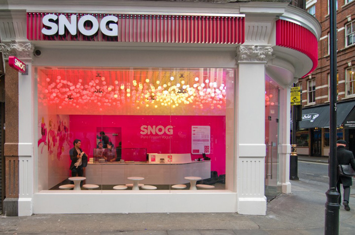 Ice Cream Snog Pure Frozen Yogurt Store By Cinimod Studio