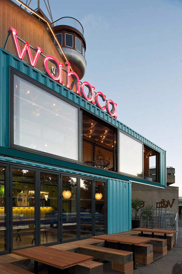 Wahaca shipping container restaurant by softroom london retail design blog - Wahaca shipping container restaurant ...