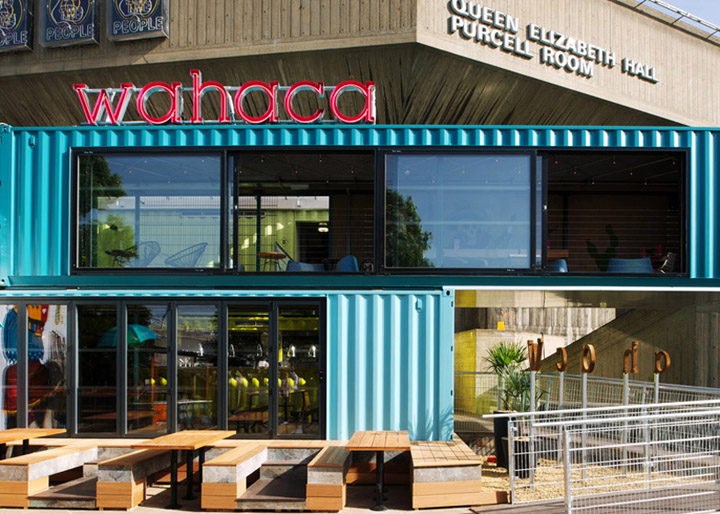 Wahaca container restaurant Softroom London Wahaca shipping container restaurant by Softroom, London