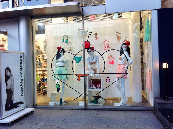 Design Hotels In Italia : American apparel ice cream windows by lena shockley japan
