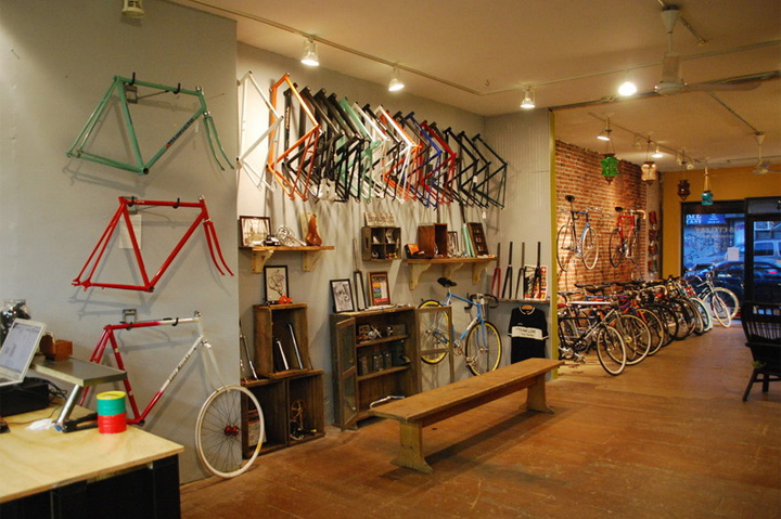 Bicycle stores 718 cyclery brooklyn retail design blog for Bmx store