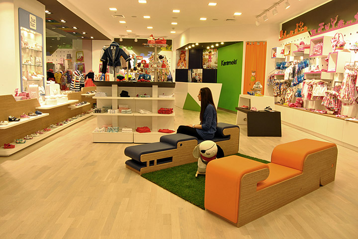 Karamela children clothing store by OSO Architects, Istanbul store ...