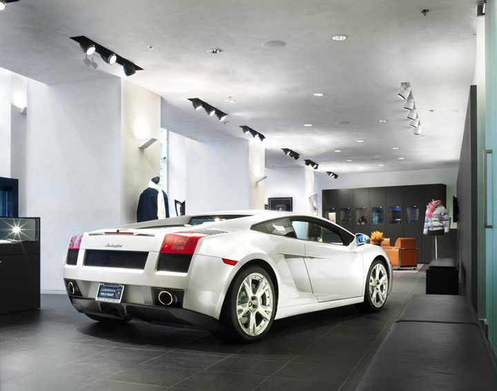 lamborghini gold coast showroom by dmac architecture retail design blog. Black Bedroom Furniture Sets. Home Design Ideas