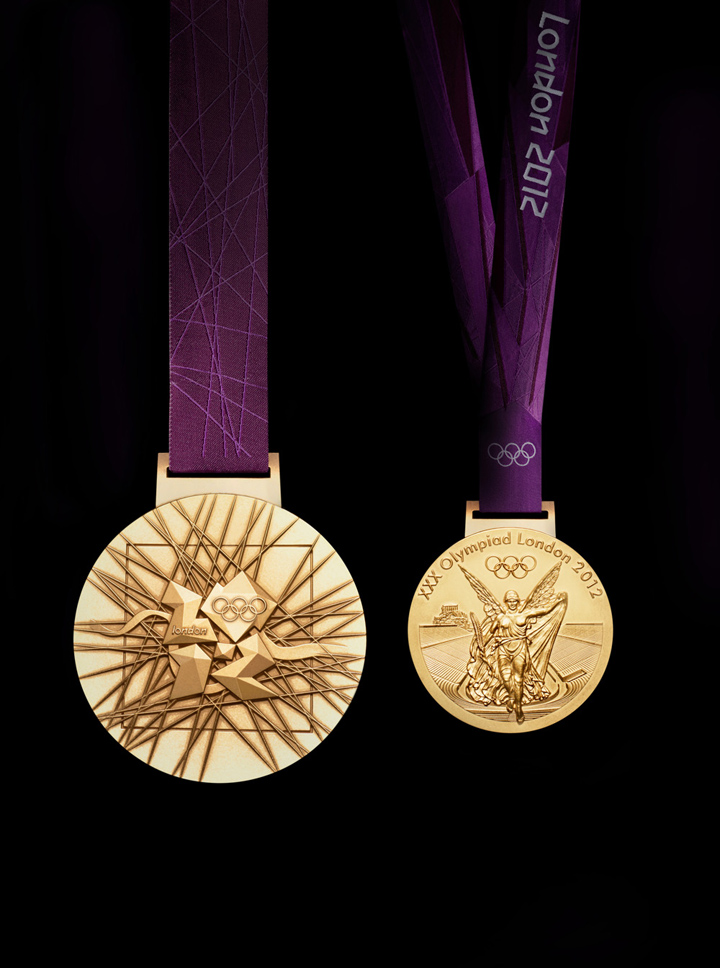 (STRICTLY EMBARGOED UNTIL 27TH JULY 19:30 BST) London 2012 Olympic medals