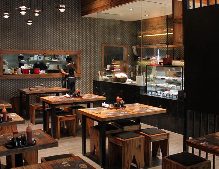 Noodle dumpling canteen by archizone sydney