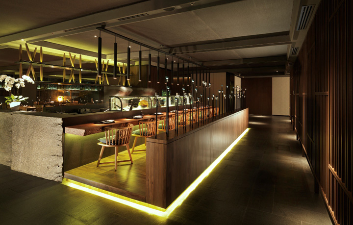 Tatsu japanese cuisine restaurant by blu water studio