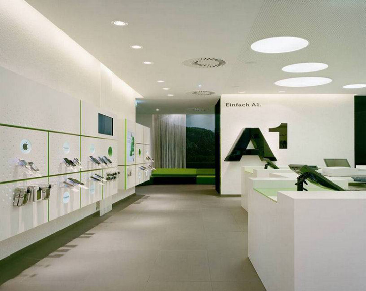 A1 telekom store by behf austria retail design blog - Mobile shop interior design ideas ...