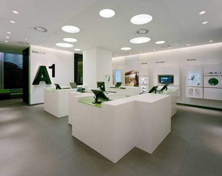 A1 telekom store by behf austria for Interior design osterreich
