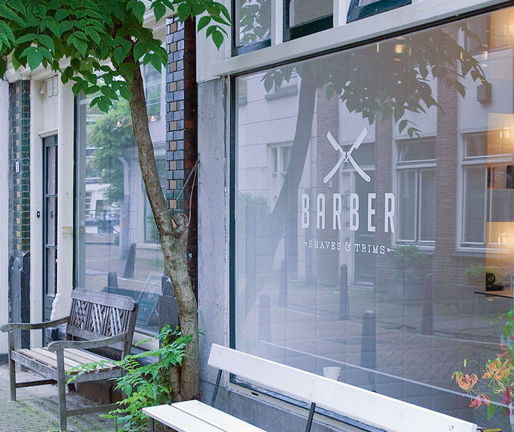 Barber shop by Ard Hoksbergen, Amsterdam » Retail Design Blog