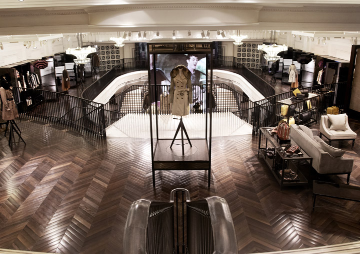 Burberry flagship store london retail design blog for Retail interior designers in london