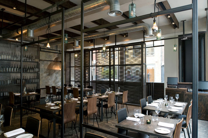 Metal doors retail design blog for Restaurant design london