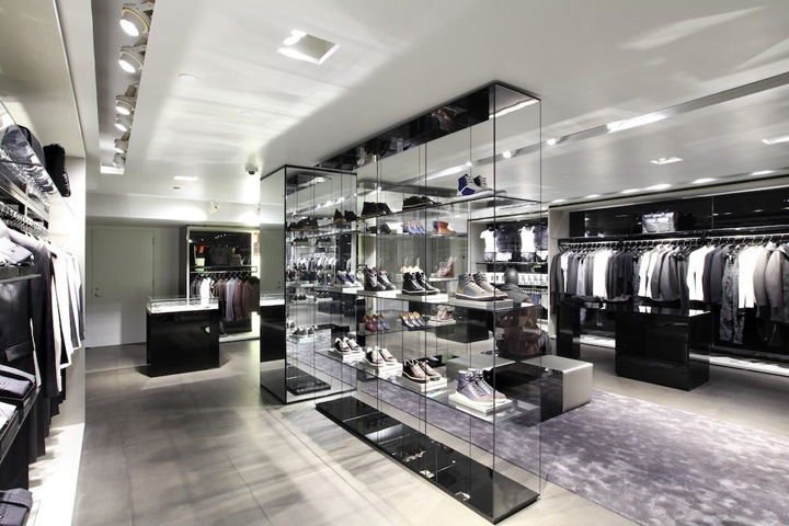 emporio armani store new york retail design blog