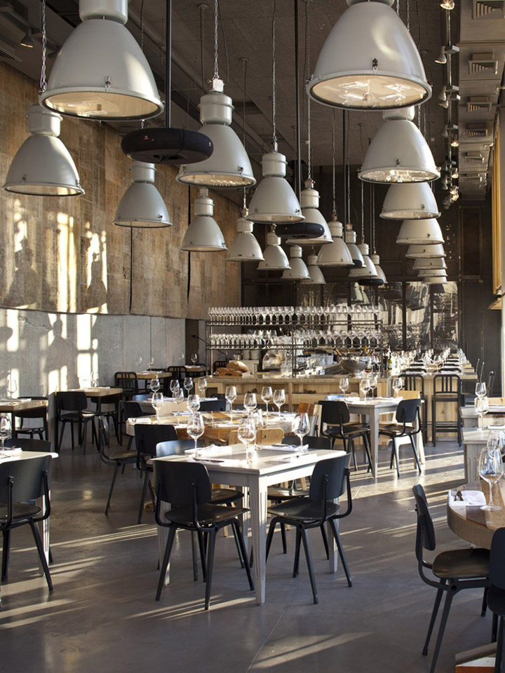 Jaffa restaurant by bk architects tel aviv - Vintage industrial interior design ...