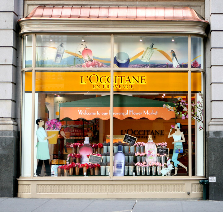 LOccitane en Provence flower market windows SheridanCo New York L'Occitane en Provence flower market windows by Sheridan&Co, New York