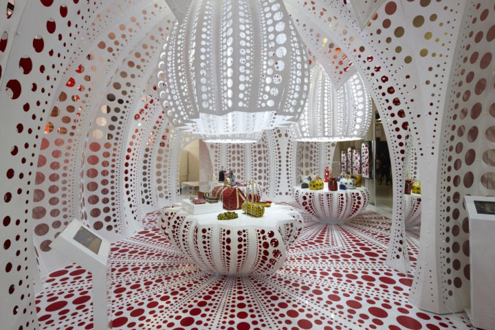 61db935a54b Japanese artist Yayoi Kusama has created a concept store for Louis Vuitton  at Selfridges in London.