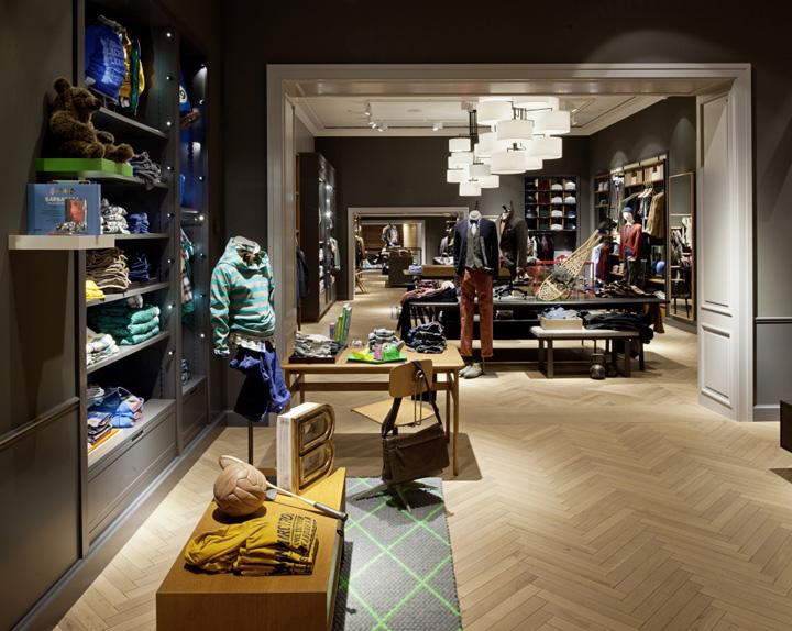 marc o polo flagship store munich retail design blog. Black Bedroom Furniture Sets. Home Design Ideas