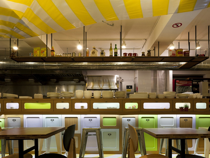 Fast food restaurant retail design
